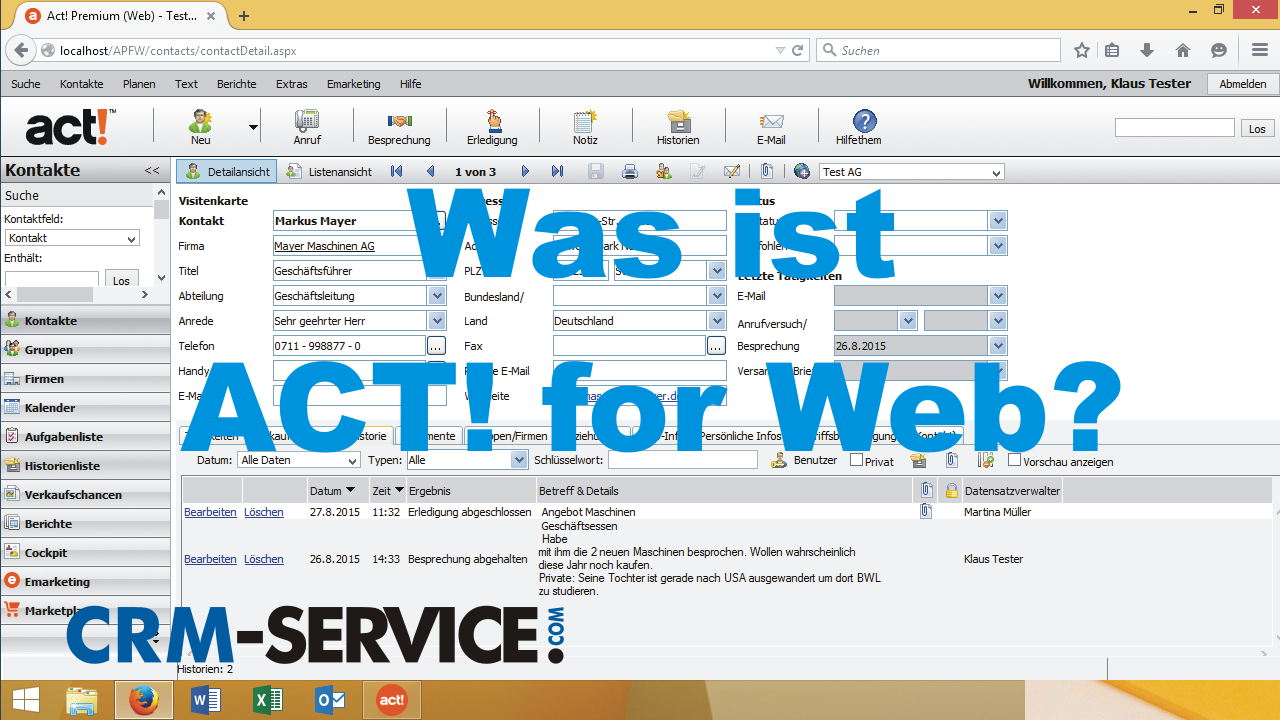 Was ist ACT! for Web?